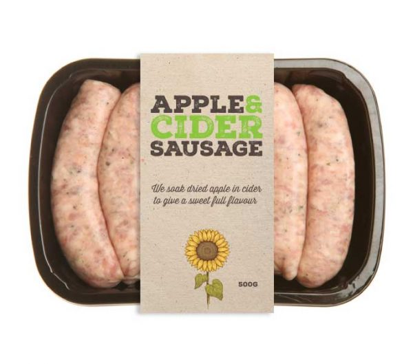 apple and cider sausages